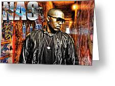 Nasir Jones Greeting Card by The DigArtisT