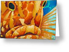 Nassau Grouper  Greeting Card by Daniel Jean-Baptiste