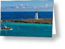 Nassau Harbor Lighthouse Greeting Card
