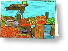 Nassau Fruit Seller At Waterside Greeting Card