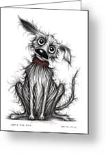 Nasty The Dog Greeting Card