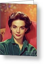 Natalie Wood, Vintage Actress Greeting Card