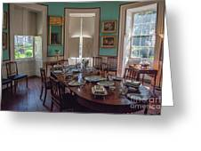Nathaniel Russell Dining Room Greeting Card