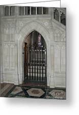 National Cathedral Grated Door Greeting Card