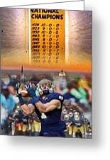 National Championships Nd Greeting Card