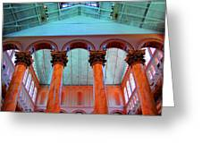 National Column Orange Greeting Card