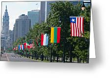 National Flags Of Various Countries Greeting Card