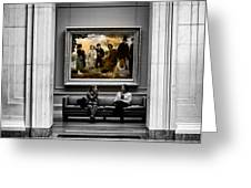 National Gallery Of Art Interiour 3 Greeting Card