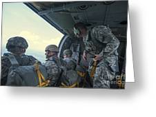 National Guard Special Forces Await Greeting Card