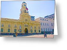 National History Museum On Plaza De Armas In Santiago-chile Greeting Card