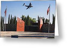 National Medal Of Honor Memorial Fly Over Greeting Card