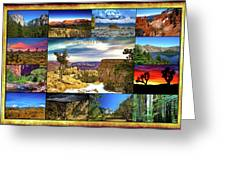 National Parks Of The West Greeting Card