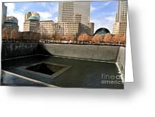 National September 11 Memorial New York City Greeting Card