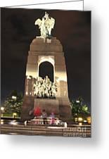 National War Memorial At Night Greeting Card