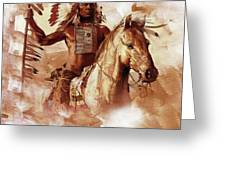 Native American 093201 Greeting Card