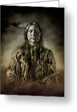 Native American Chief-scabby Bull 2 Greeting Card
