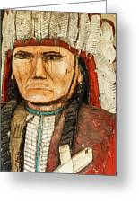 Native American Chief With Pipe Greeting Card