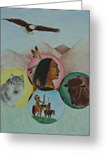 Native American Circle Of Life Greeting Card by Jessica Hallberg