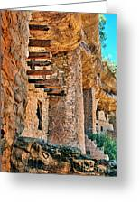Native American Cliff Dwellings Greeting Card