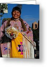 Native American Clothes Contest 1 Greeting Card