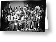Native American Delegation, 1877 Greeting Card