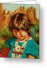Native American Girl Greeting Card
