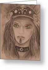 Native American Girl  Greeting Card