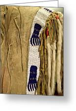Native American Great Plains Indian Clothing Artwork Vertical 06 Greeting Card