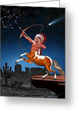 Native American Sagittarius Greeting Card