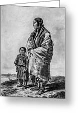 Native American Squaw And Child Greeting Card