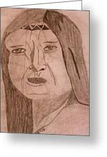 Native American Woman Greeting Card