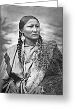 Native American Woman War Chief Pretty Nose Greeting Card