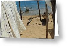 Native Beach Scene Greeting Card