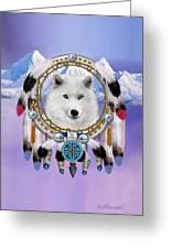 Native Indian Wolf Spirit Greeting Card