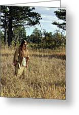 Native Maiden Greeting Card