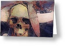 Native Skull  Greeting Card