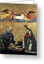 Nativity By Domenico Ghirlandaio Greeting Card