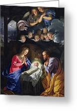 Nativity Greeting Card by Philippe de Champaigne