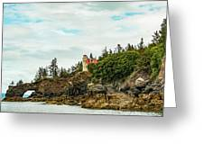 Natural Arch At Lighthouse Point Greeting Card
