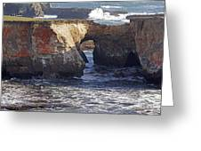 Natural Bridge At Point Arena Greeting Card