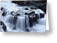 Natural Bridges Falls 02 Greeting Card