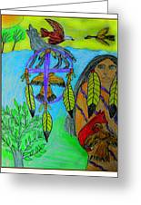 Natural Dream Catcher Greeting Card