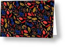 Natural Floral Pattern Greeting Card