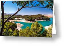 Natural Framing. El Chorro. Spain Greeting Card