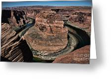 Natural Horseshoe Bend Arizona  Greeting Card