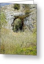 Natural Limestone Arch At Dove Valley Greeting Card