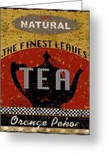 Natural Tea Greeting Card