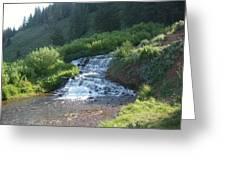 Natural Waterfall Greeting Card