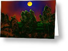 Nature In Full Moon  Greeting Card