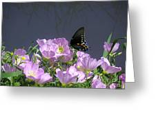 Nature In The Wild - Profiles By A Stream Greeting Card